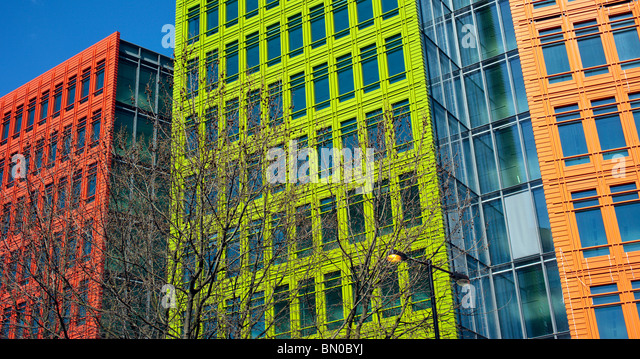 central st giles buildings in london england uk by architect renzo piano stock image brightly colored offices central st