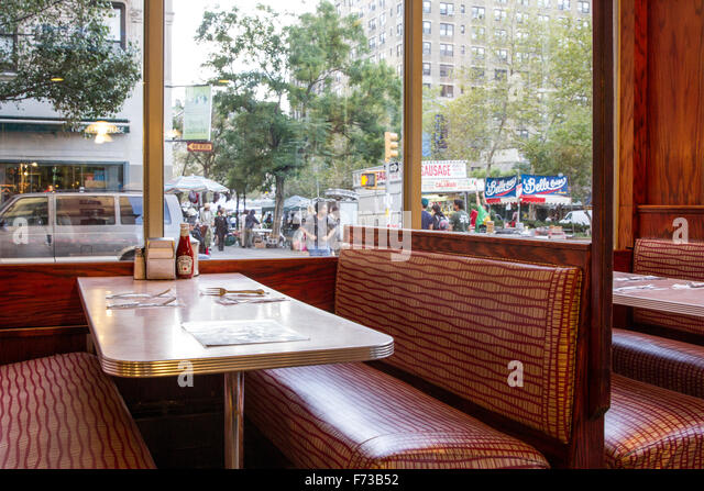 New York City Diner Booth   Stock Image