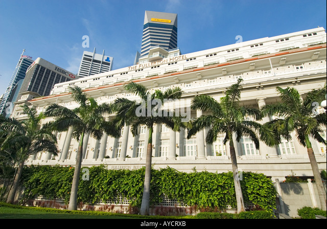 One raffles place stock photos one raffles place stock for Most luxurious hotel in singapore