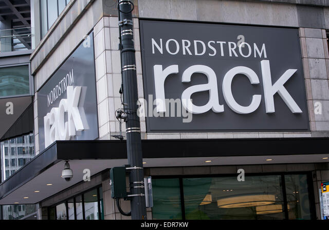 A Nordstrom Rack Clothing Retail In Downtown Seattle Washington Stock Image