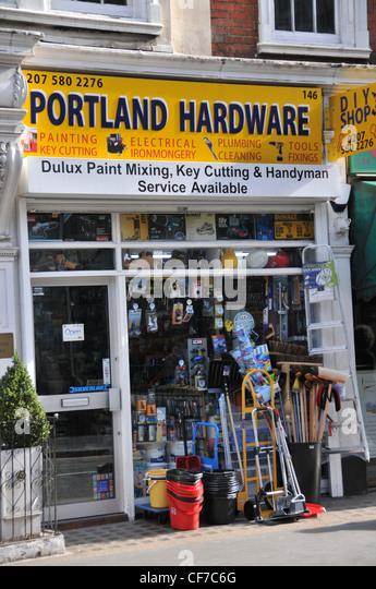 Hardware store key cutting