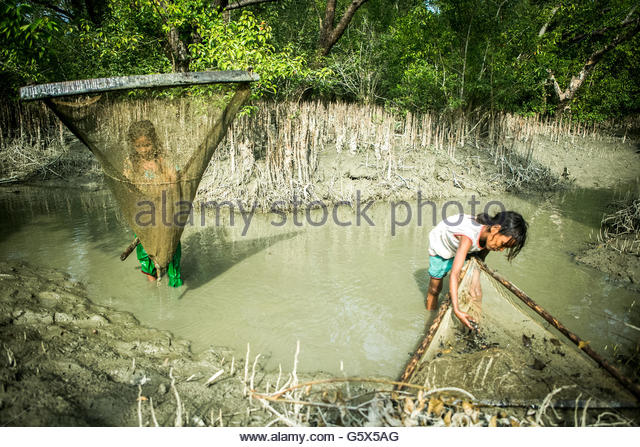 Woman fishing in river middle stock photos woman fishing for Small creek fishing