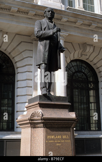 statue of sir rowland hill outside former general post office king edward st london bayswater post office
