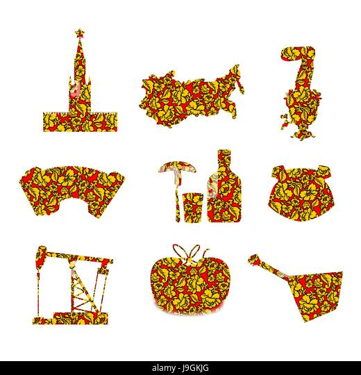Russian Food Flag Cut Out Stock Images Pictures Alamy