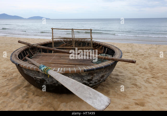 Round boat and vietnam stock photos round boat and for Round fishing boat
