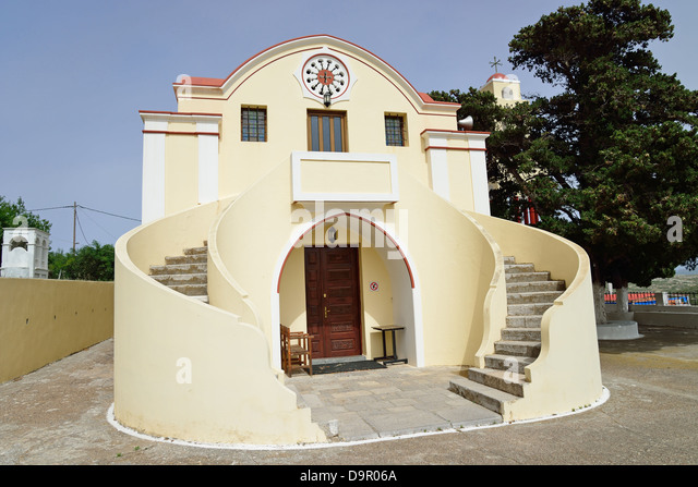 Church Monolithos Greece Europe Stock Photos & Church ...