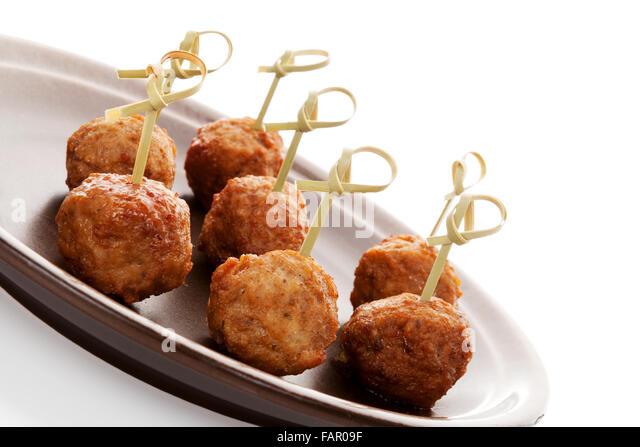 Canape tray stock photos canape tray stock images alamy for Meatball canape