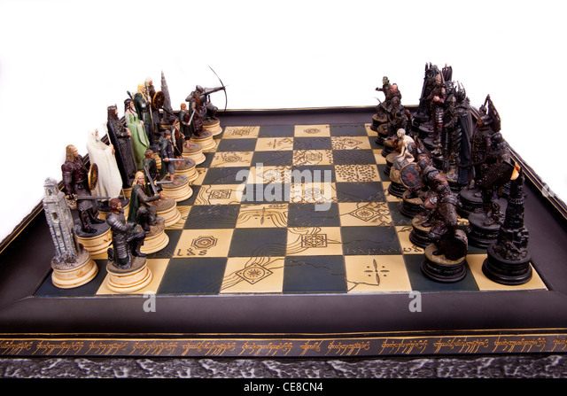 Lord Rings Chess Set Figures Stock Photos Lord Rings