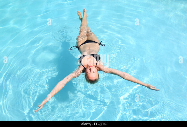 Caucasian stock photos caucasian stock images alamy for Floating swimming pool paris