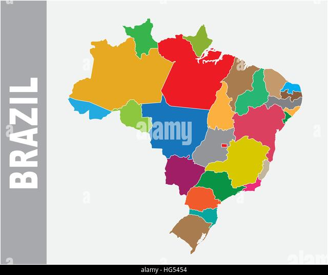 Brazil Political Map Stock Photos Brazil Political Map Stock - Brazil political map