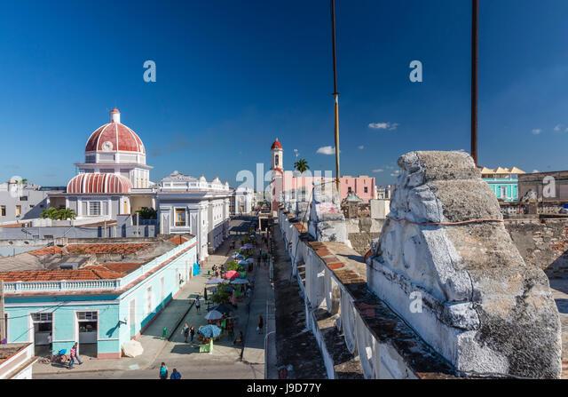 Antiguo Ayuntamiento, home of the provincial government building, UNESCO, Cienfuegos, Cuba, West Indies, Caribbean - Stock Image