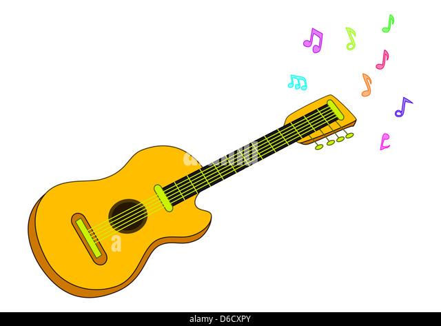 Spanish Guitar Design Stock Photos