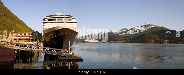 Holland america s cruise ship amsterdam docked in downtown juneau on