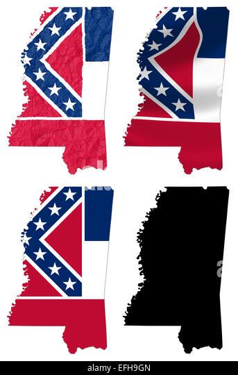 Flag Mississippi Us State Stock Photos Flag Mississippi Us State - Mississippi state map usa