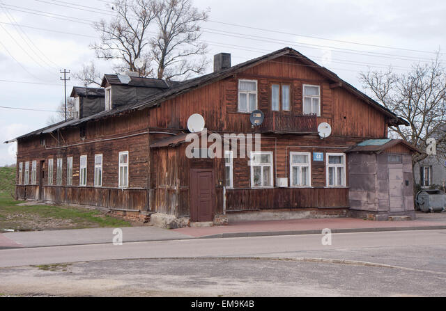 nowy dwor mazowiecki poland april 02 2015 old ruined house in the - Brick Apartment 2015