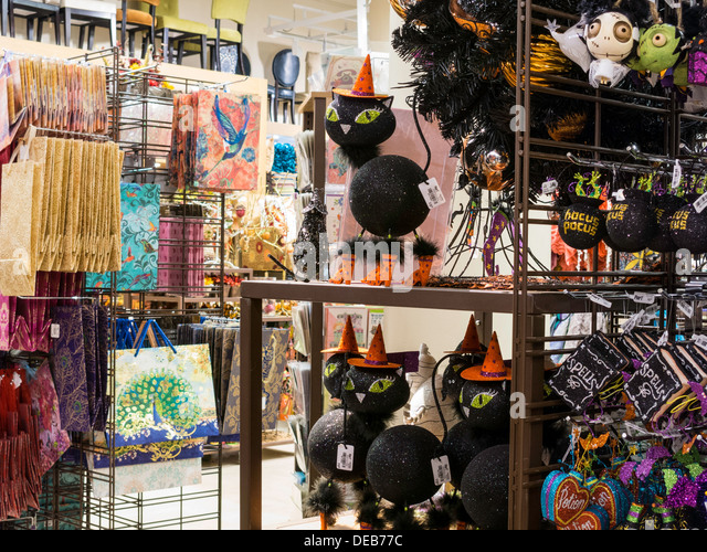 halloween display in pier 1 imports nyc stock image - Pier One Halloween