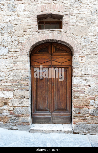 Old Wooden Italian Door - Stock Image & Italian Door \u0026 San Francisco Modern Doors Pezcame.Com