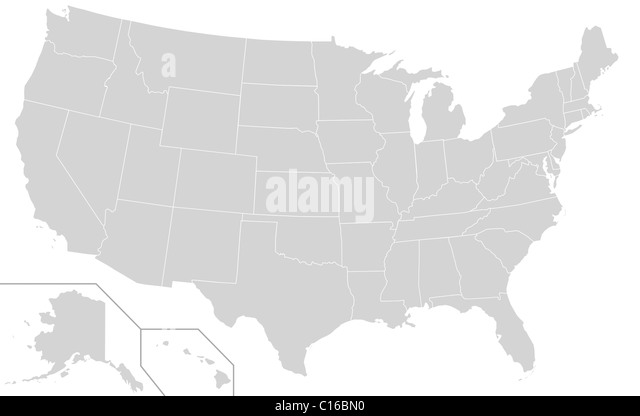 Usa Map Black And White Stock Photos Images Alamy - Black and white usa map