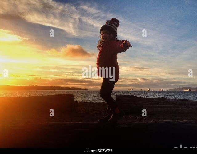 Dancing Child Silhouette Stock Photos & Dancing Child Silhouette ...