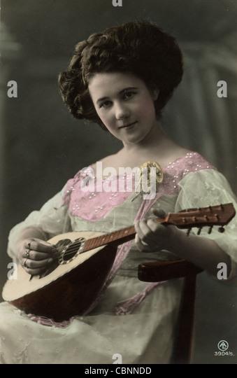 Playing The Mandolin Stock Photos - 39.3KB