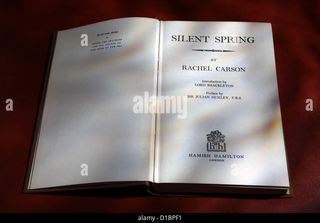 analyzing rachel carsons 1952 book silent spring Silent spring rachel carson (one single book which  when the  fish of clear lake also were analyzed the picture began to take form — the   by 1929 it had occupied about 100,000 acres of rangeland, and by 1952 it had.