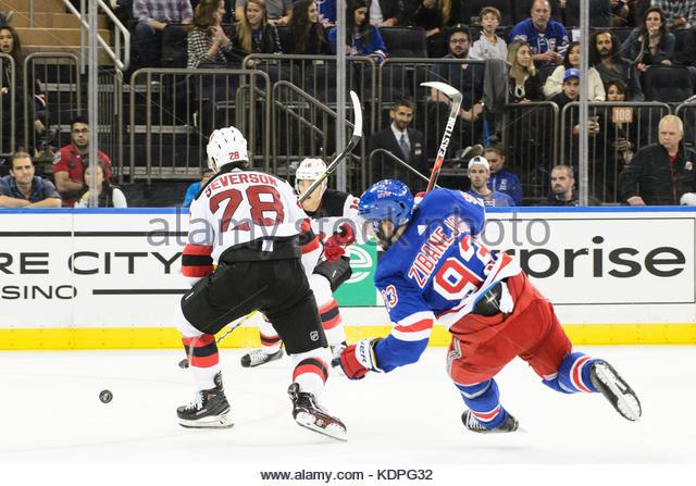 f69db83a ... Mika Zibanejad 93 and Pavel Buchnevich Manhattan, New York, USA. 14th  Oct, 2017. New York Rangers center . ...