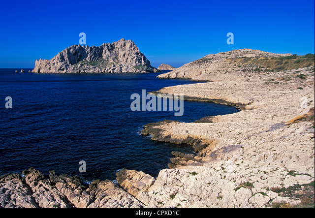 Calanques callelongue marseille provence cote dazur stock for Rhone marseille