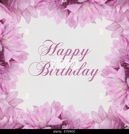 Happy Birthday Greeting Card Flowers Photos Happy Birthday – Birthday Card Decoration
