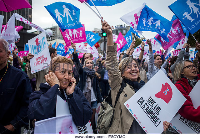 demonstration anti gay marriage on october 5 2014 in paris france photo by - Mariage Homosexsuel France