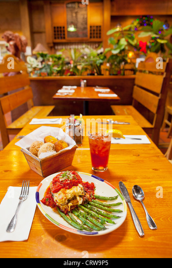roasted eggplant and three cheese lasagna with grilled stringbeans and ...