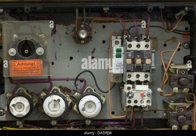 germany antique old ruined fuse box dadrjw fuse box stock photos & fuse box stock images alamy antique fuse box at mifinder.co