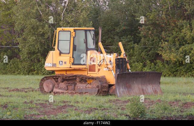 Wentworth Canada August John Deere Bulldozer In Field John F W