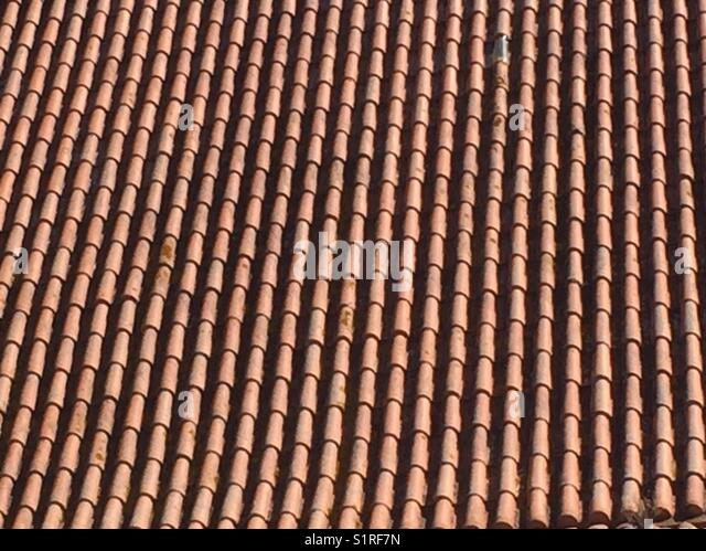 Red Tile Roof Top In Lisbon   Stock Image
