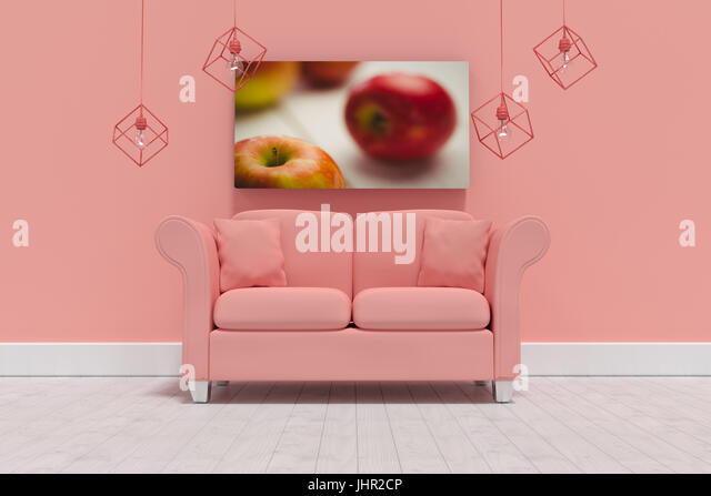 Red Couch Against Wall Stock Photos & Red Couch Against Wall Stock ...