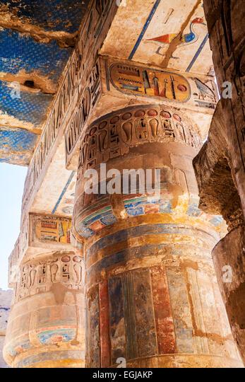 Ancient egypt columns stock photos