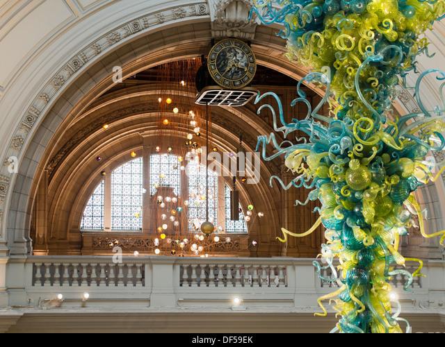 Foyer Museum Victoria : Sculpture atrium stock photos