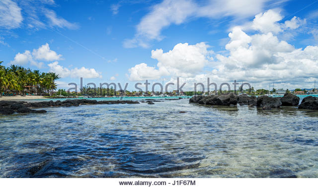Tropical Island Beach Ambience Sound: Mauritius Island Beach Snorkeling Stock Photos & Mauritius