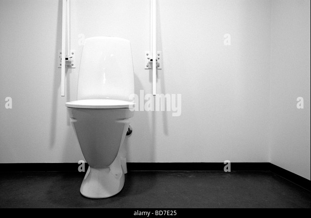 toilet for the disabled stock image