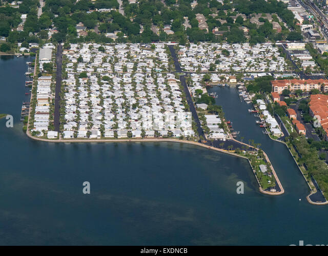 florida houses on the water. aerials of houses on water in suburban tampa floridaa stock image florida the o