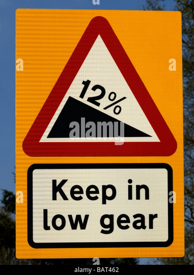 sign steep hill stock photos & sign steep hill stock images - alamy