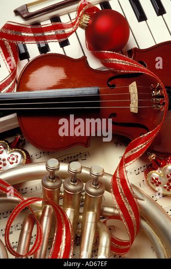 Christmas piano ornament stock photos