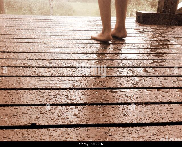 Rain summer holidays stock photos rain summer holidays for Terrace jogging track