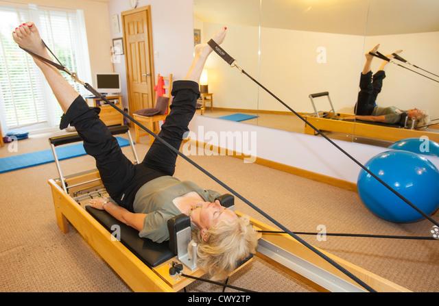 pilates with machine