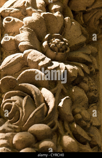 Carving of flowers stock photos