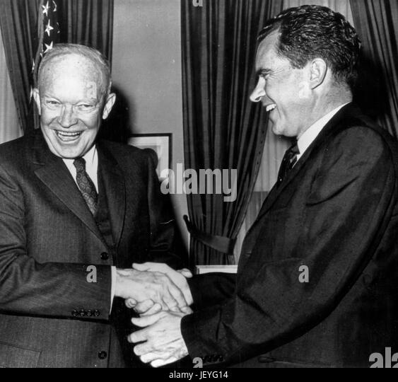 dwight eisenhower, richard nixon, 1960 - Stock Image