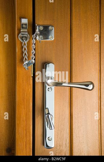Chain on door - Stock Image & Door Security Chain Stock Photos \u0026 Door Security Chain Stock ... Pezcame.Com
