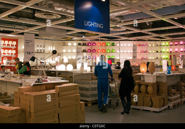 Lighting department ikea store wembley stock photos for Ikea shops london