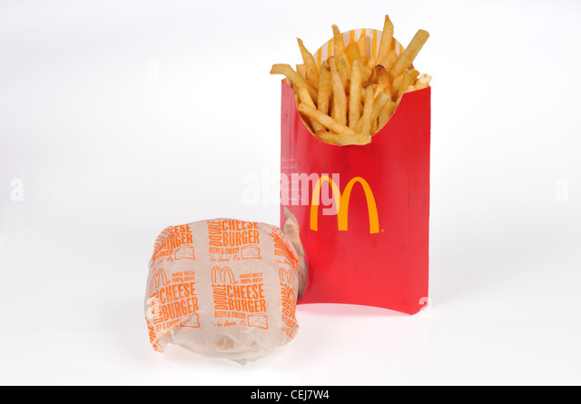 Mcdonalds Double Cheeseburger In Paper Wrapper With Large ...