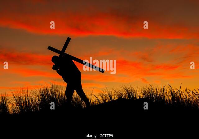 silhouette jesus carrying cross stock photos amp silhouette
