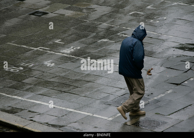 Rain Street Alone Gray Stock Photos & Rain Street Alone ...